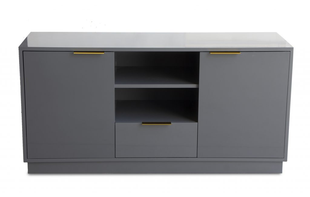 tv stand-entertainment center-gray